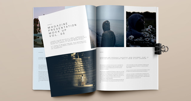 Psd Magazine Mockup View Vol5 Psd Mock Up Templates Pixeden