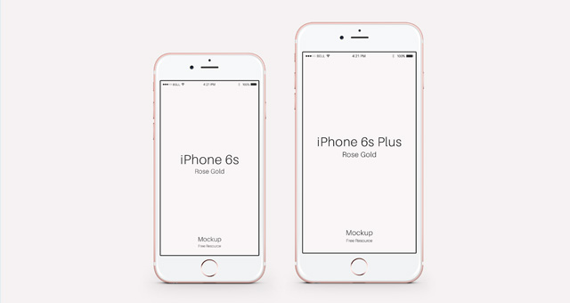 iPhone 6s Psd Rose Gold Mockup Psd Mock Up Templates Pixeden
