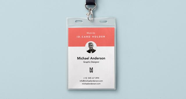 Psd Identity Card Holder Mockup Psd Mock Up Templates Pixeden