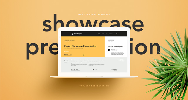 Psd Showcase Project Presentation Psd Web Elements Pixeden