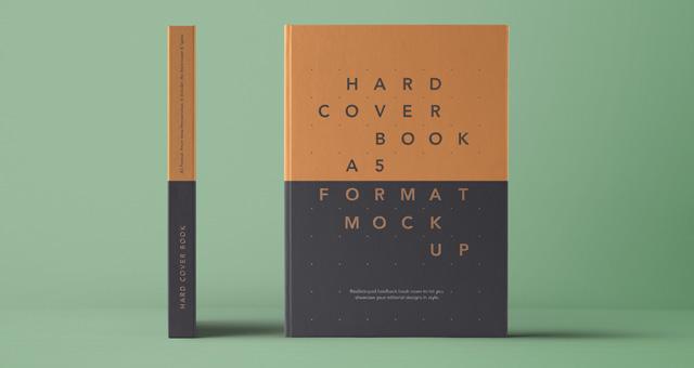 Psd A5 Hardcover Book Vol4 Psd Mock Up Templates Pixeden