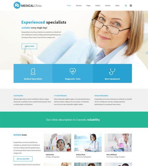Medical WordPress Theme - PixelEmu