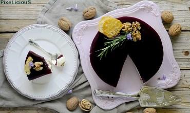 Pecorino Cheesecake con Rosmarino, Crudo, Noci e Gelée al Chianti Classico