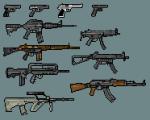 Guns Pixel Art Weapons