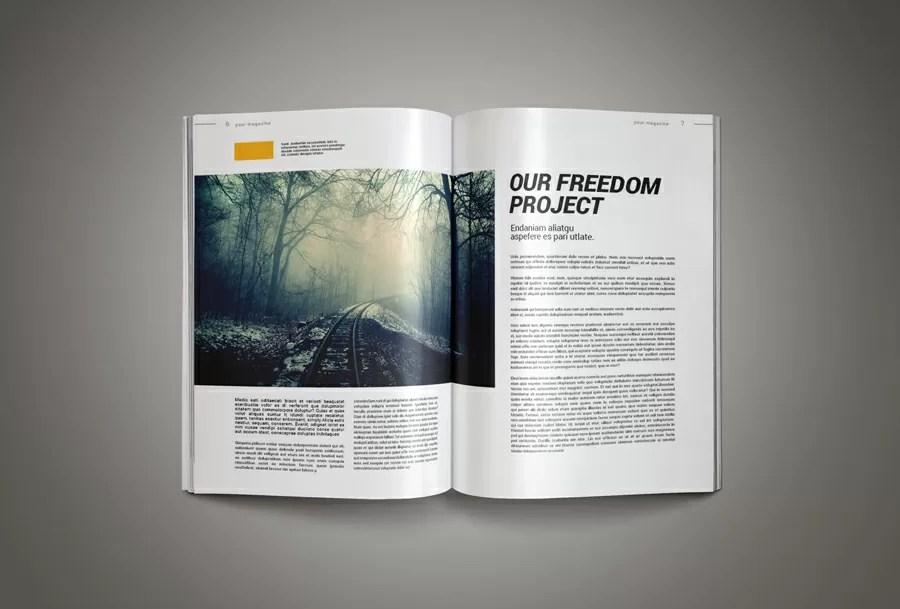 InkDesign Magazine Template Pixelo