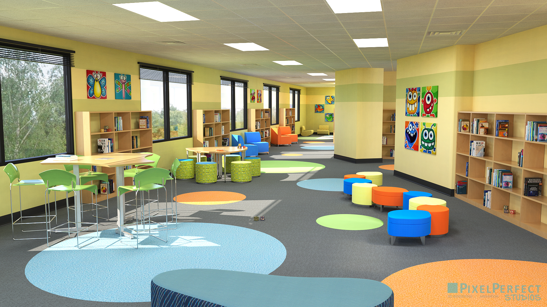 Philadelphia In The Fall Wallpaper Pixel Perfect 3d Rendering Kids Daycare Playroom