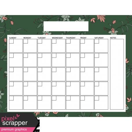 The Good Life December Calendars - Calendar 85x11 Blank graphic by