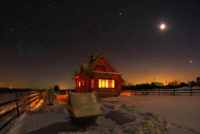 Beautiful Winter Night Wallpaper   PixelsTalk.Net