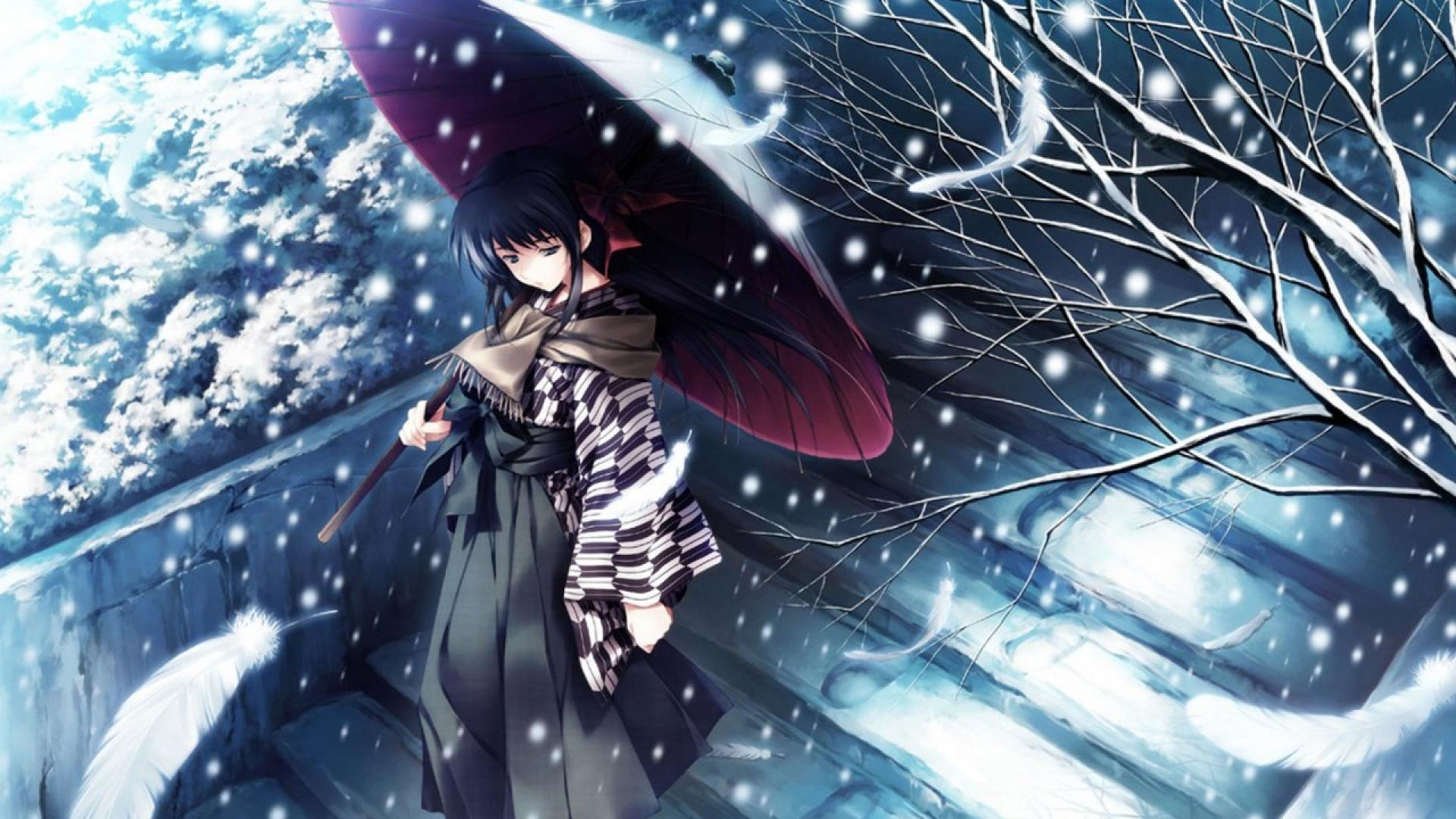Girl Wallpaper Full Hd For Mobile Winter Girl Anime Wallpapers Hd Download Free Media