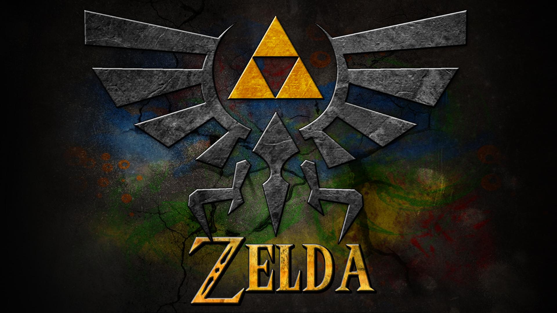 The Legend Of Zelda Wallpaper Hd Zelda Logo Wallpaper Pixelstalk Net