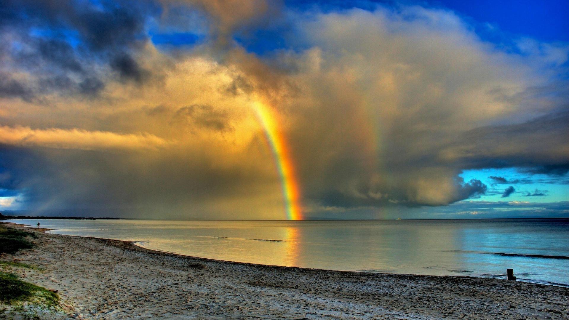 Ocean Waves Iphone Wallpaper Free Download Rainbow Backgrounds Pixelstalk Net