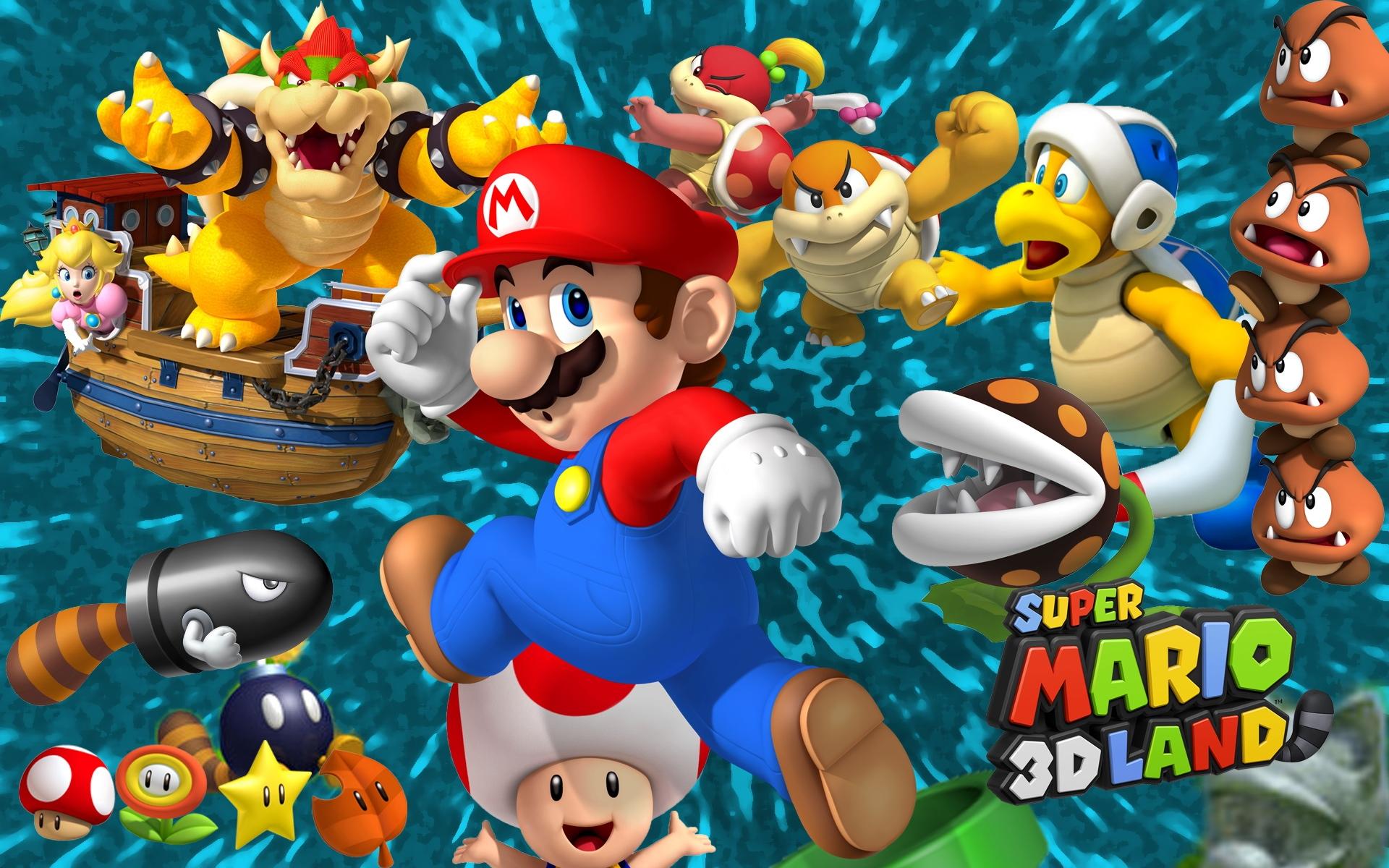 Mario 3d Wallpaper Mario Wallpaper Hd Pixelstalk Net