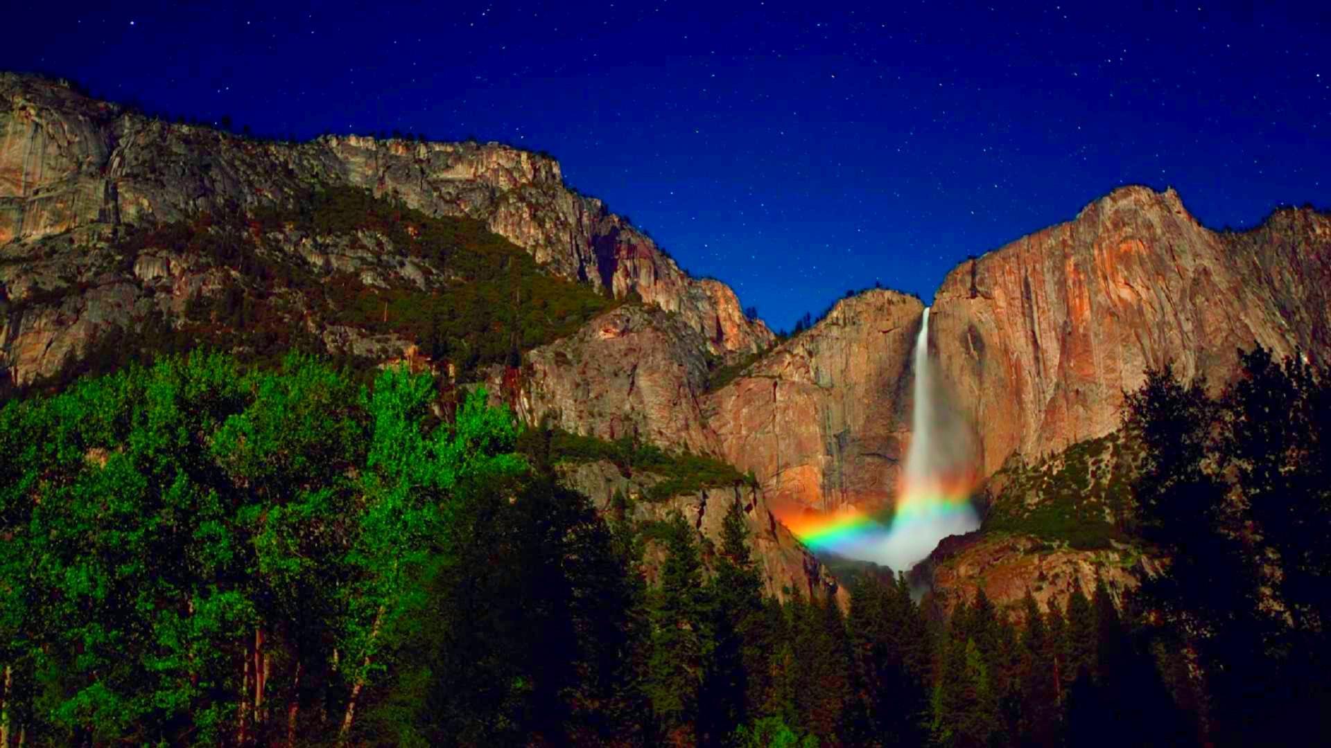 Niagara Falls Hd Wallpaper For Desktop Yosemite Night Wallpaper Pixelstalk Net