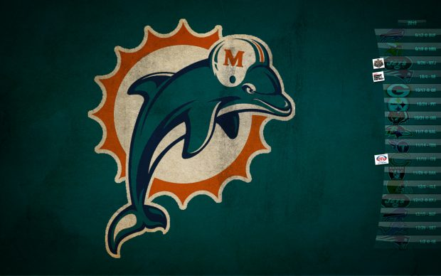 American Football Quotes Wallpaper Miami Dolphins Logo Wallpaper Pixelstalk Net