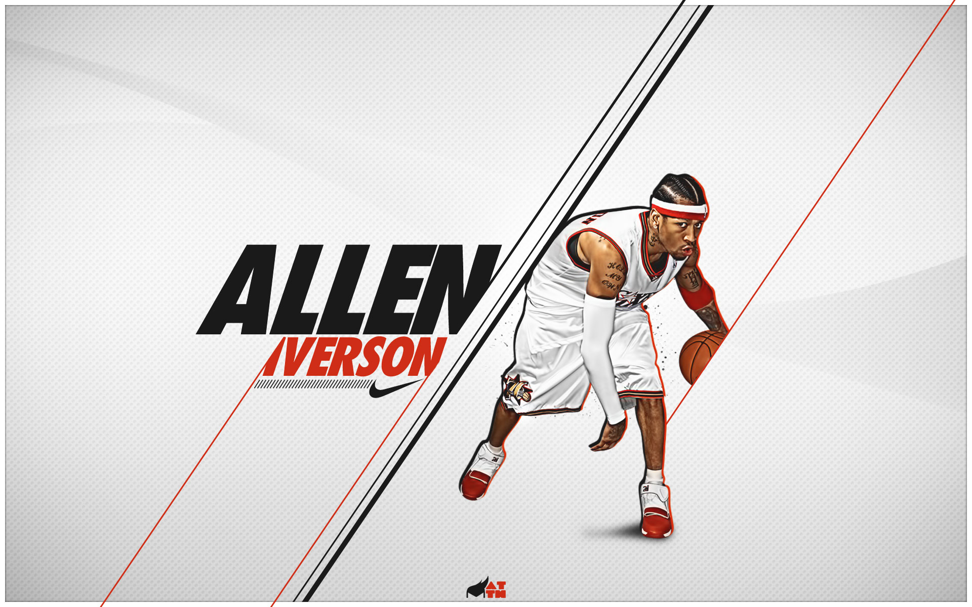 Lakers 3d Logo Wallpaper Allen Iverson Wallpapers Hd Pixelstalk Net