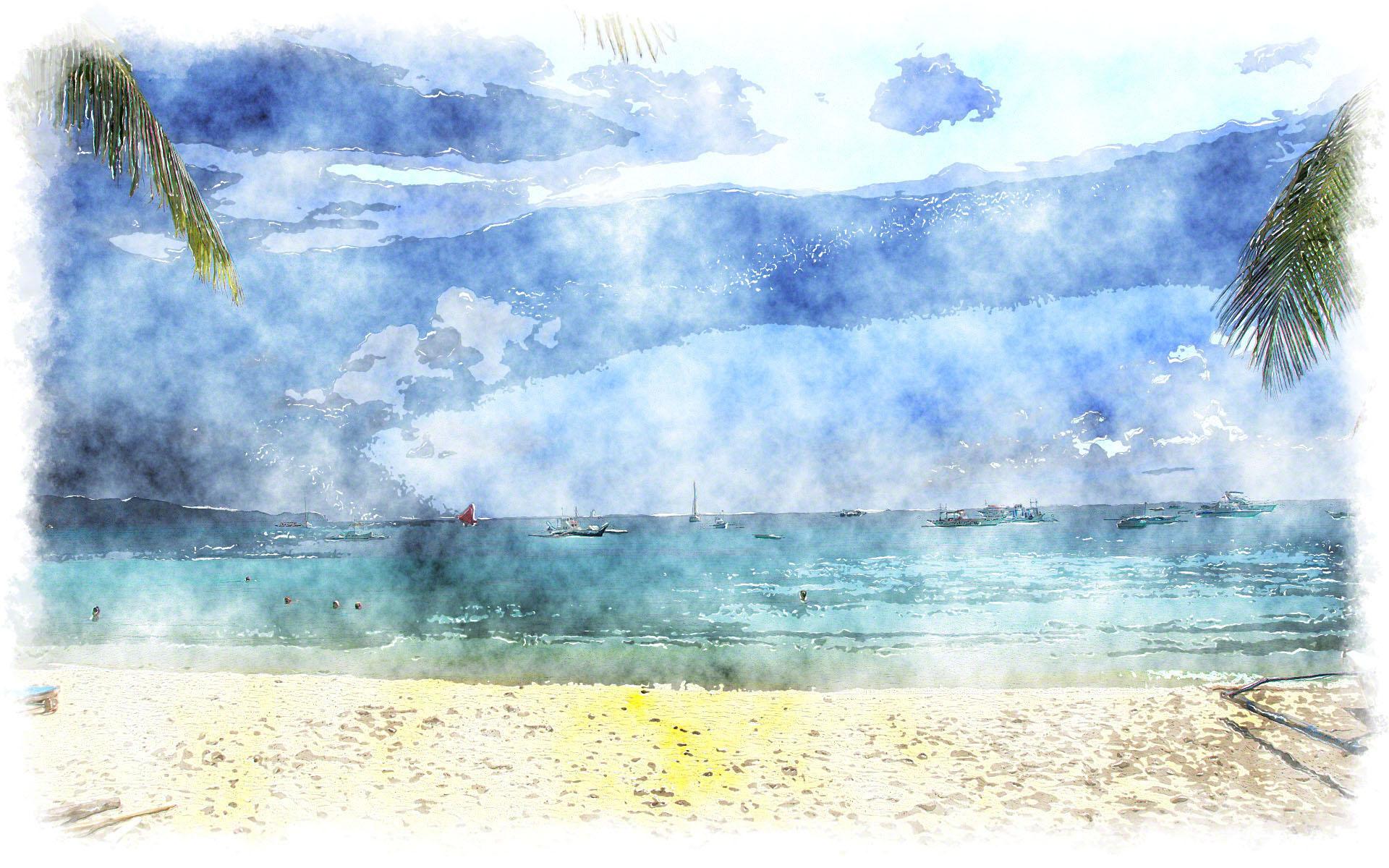 Fall Beach Widescreen Wallpaper Blue Watercolor Wallpaper Pixelstalk Net