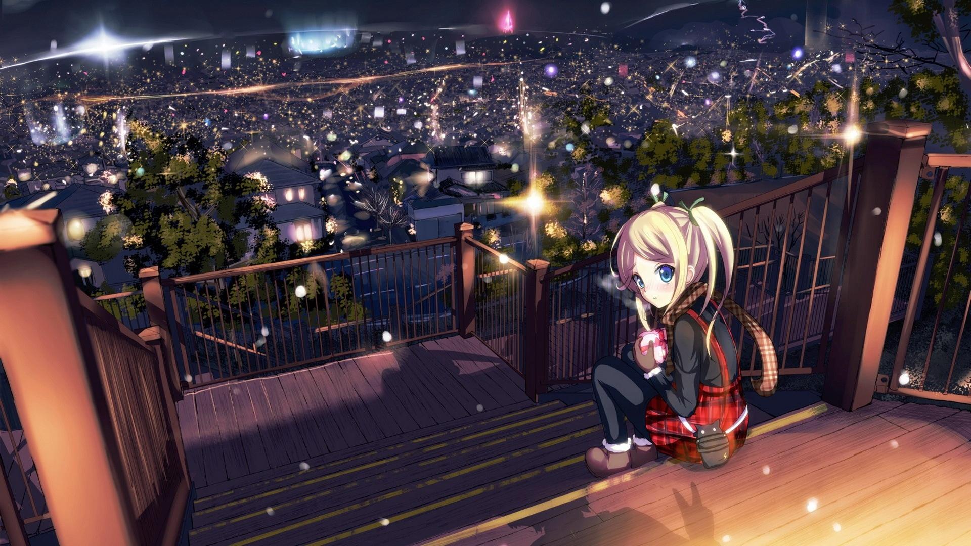 Lonely Cute Girl Wallpaper Anime Girl Wallpapers Hd Pixelstalk Net