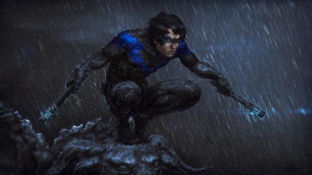 Fall Wallpaper Cartoon Free Nightwing Hd Wallpapers Pixelstalk Net