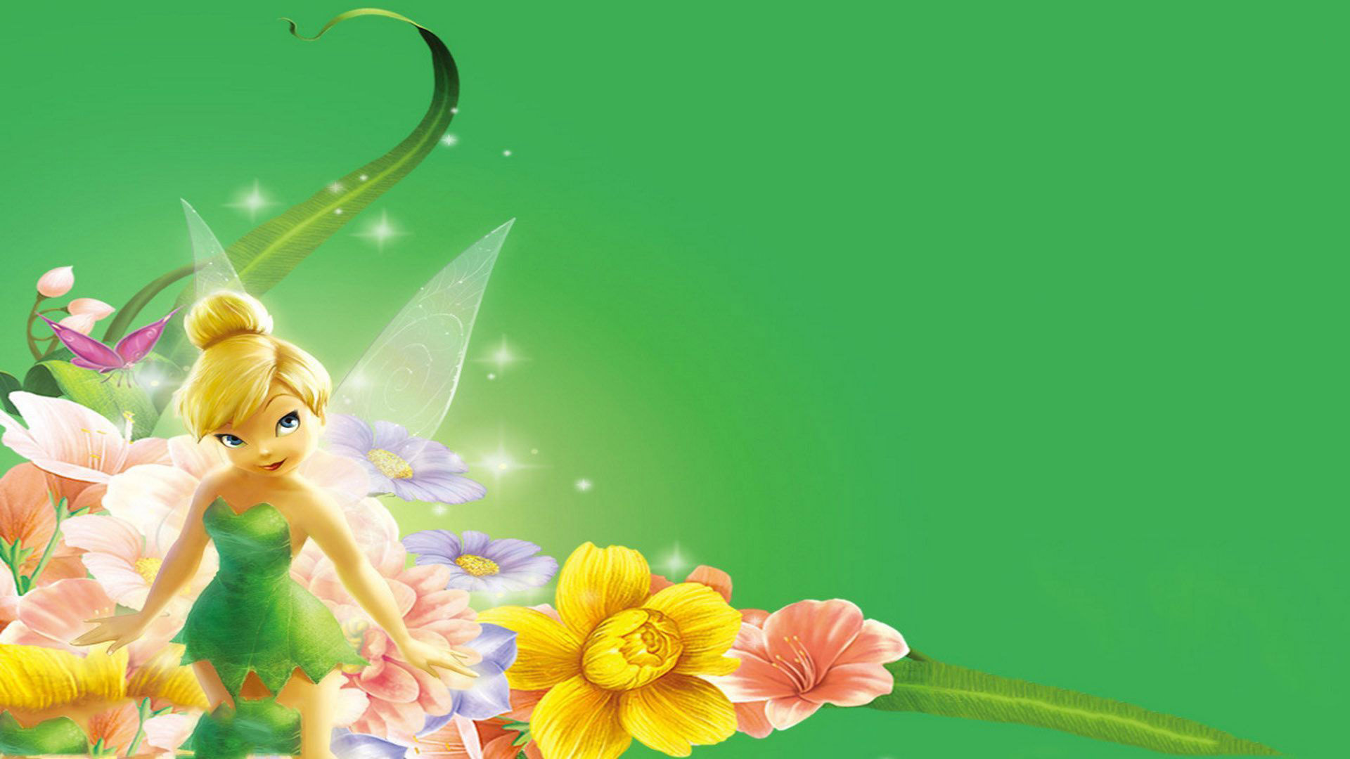 Cute Drawing Desktop Wallpaper Tinkerbell Wallpapers Hd Pixelstalk Net