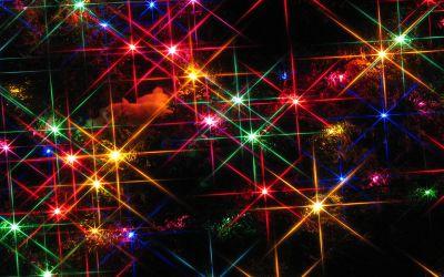 Free Desktop Christmas Lights Wallpapers | PixelsTalk.Net