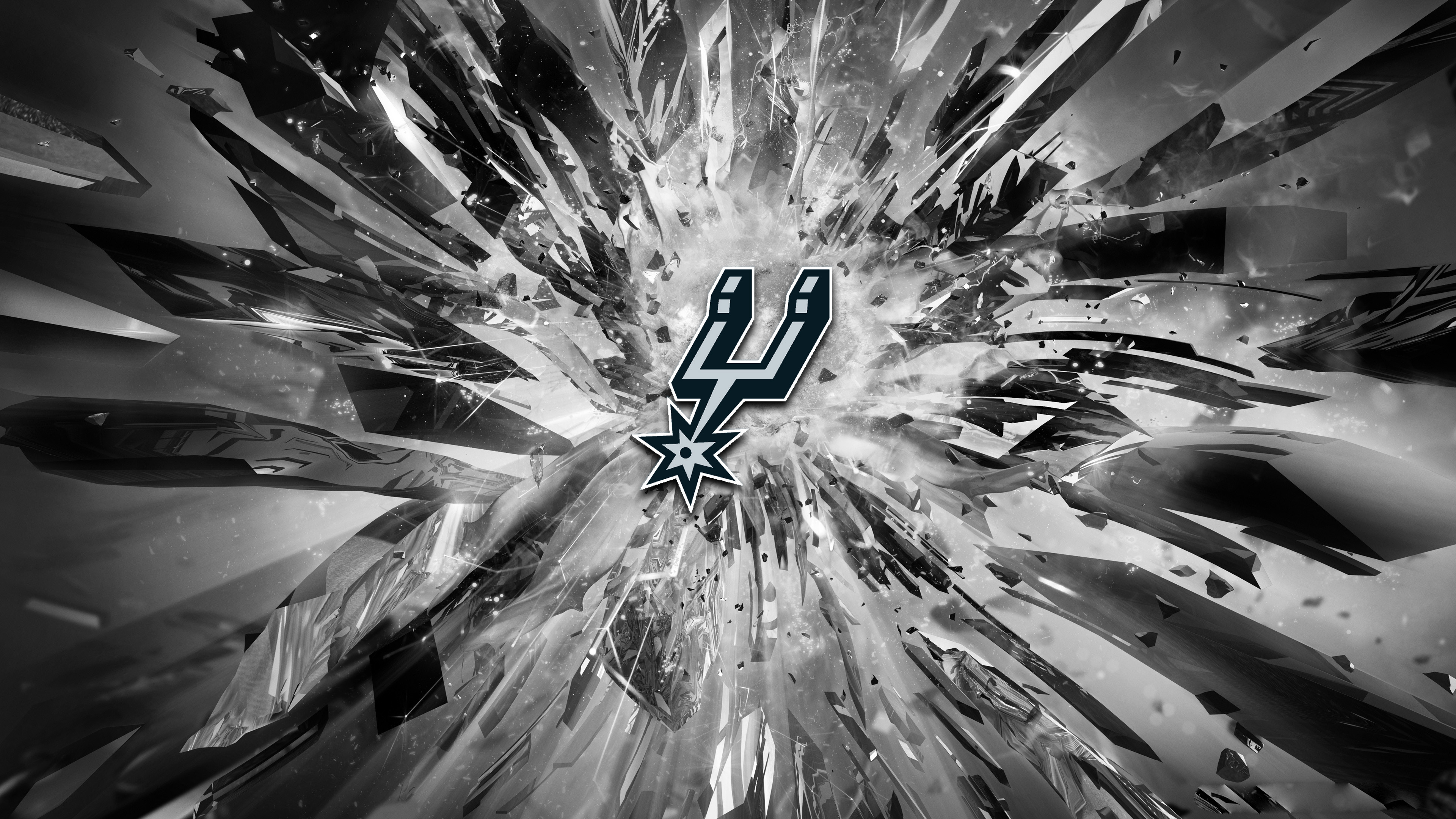 Good 3d Wallpapers For Desktop Spurs Logo Wallpaper Pixelstalk Net