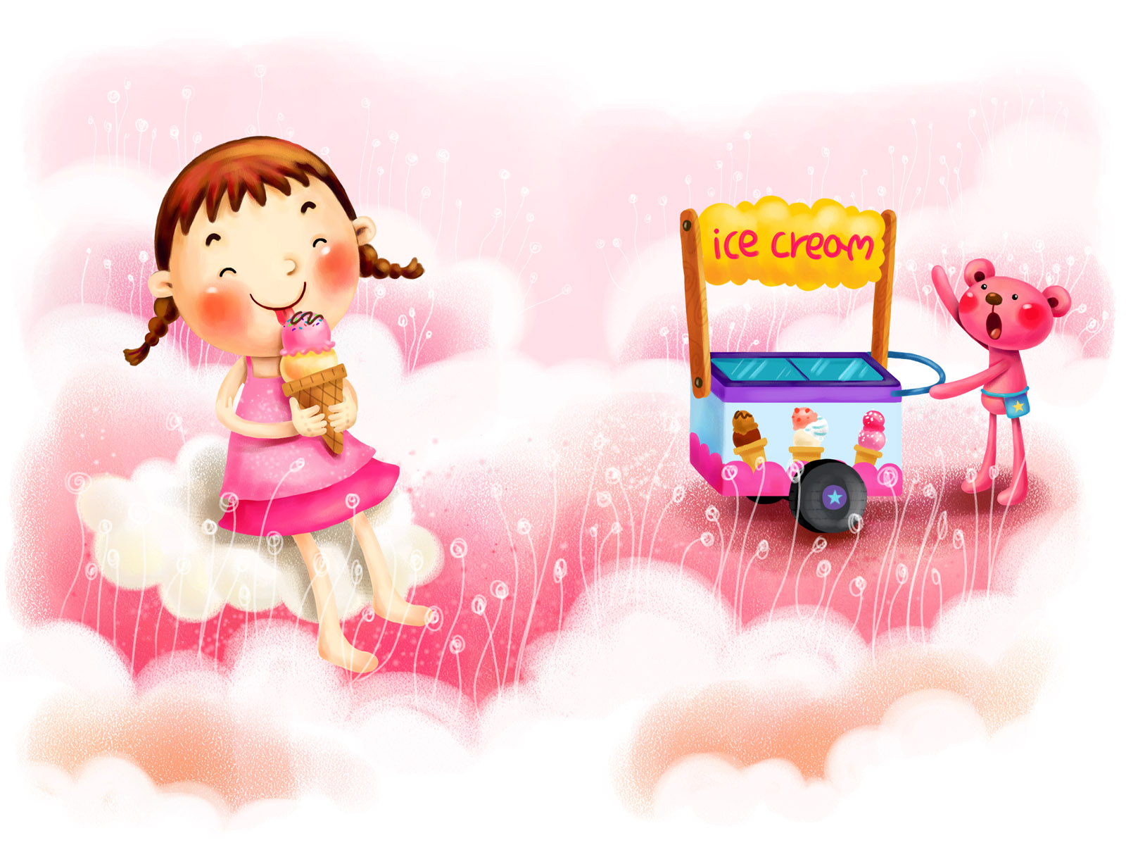 Pretty Baby Girl Wallpapers Download Free Cute Ice Cream Wallpapers Pixelstalk Net