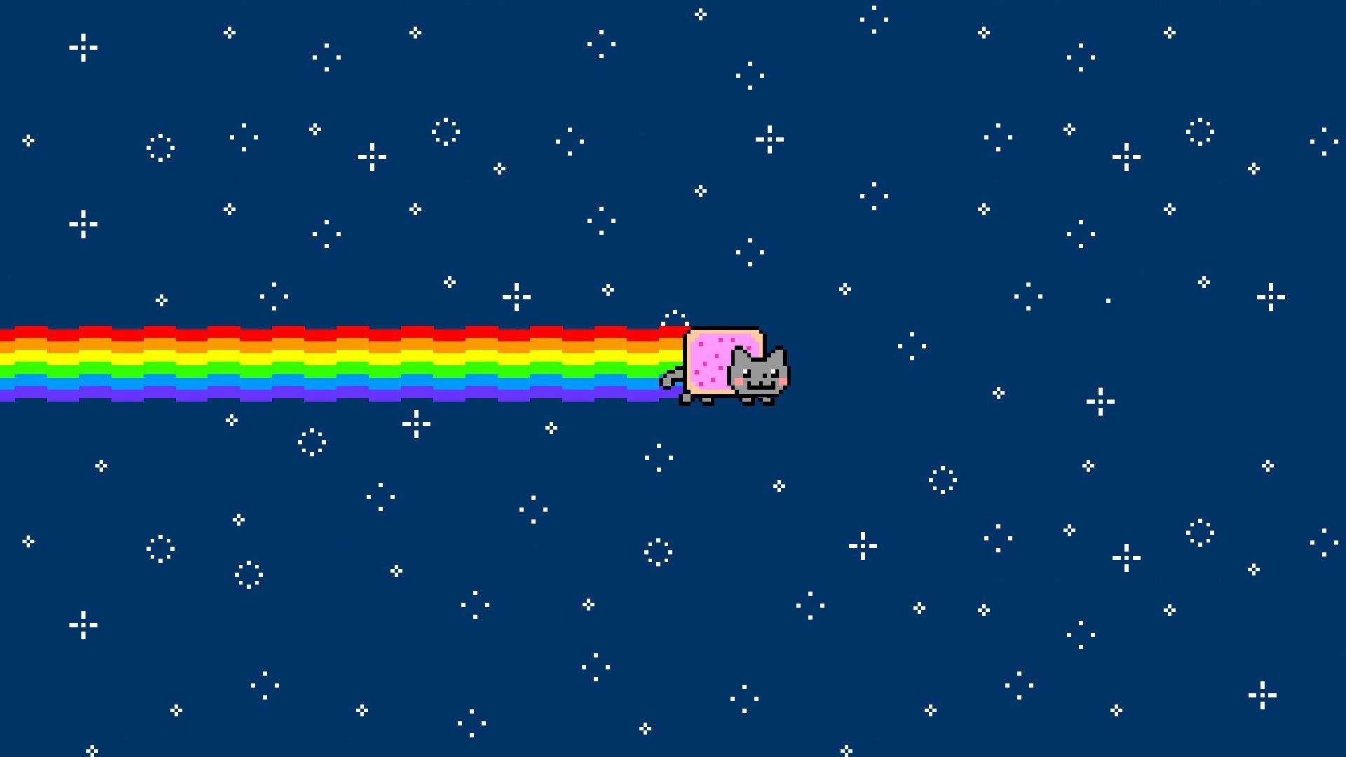 Full Screen Fall Wallpaper Nyan Cat Wallpapers Free Download Pixelstalk Net