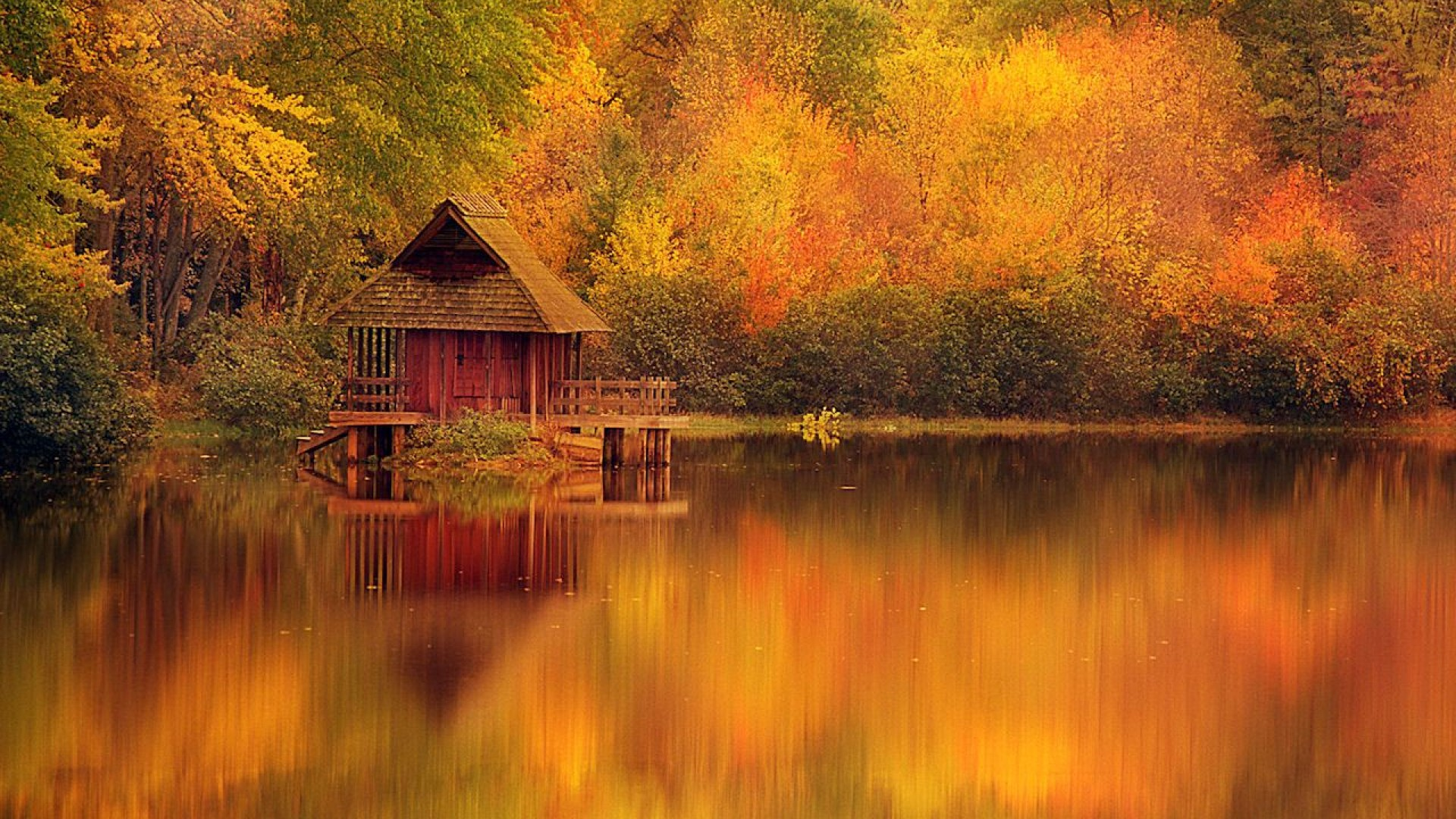 Fall Foliage Wallpaper For Computer Hd Log Cabin Wallpapers Pixelstalk Net