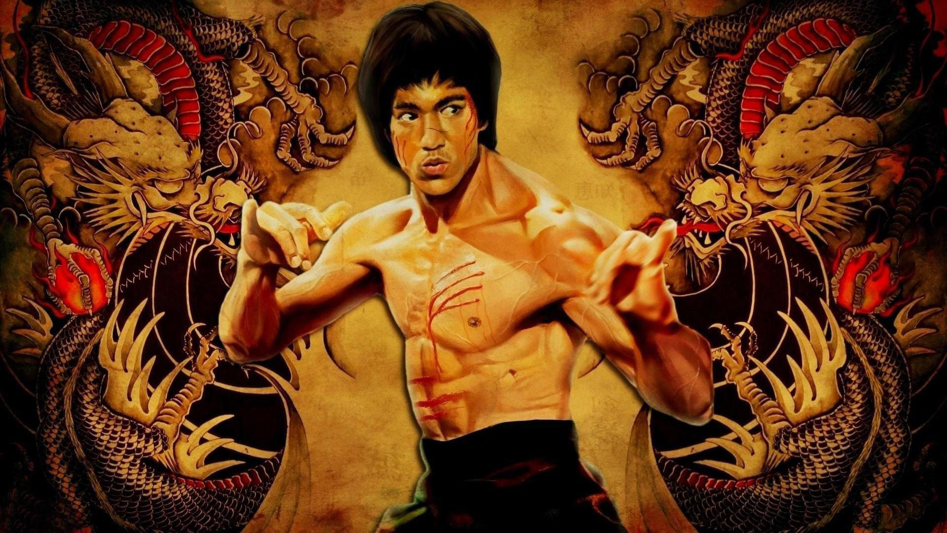 Cute Drawing Wallpaper Bruce Lee Images Free Download Pixelstalk Net
