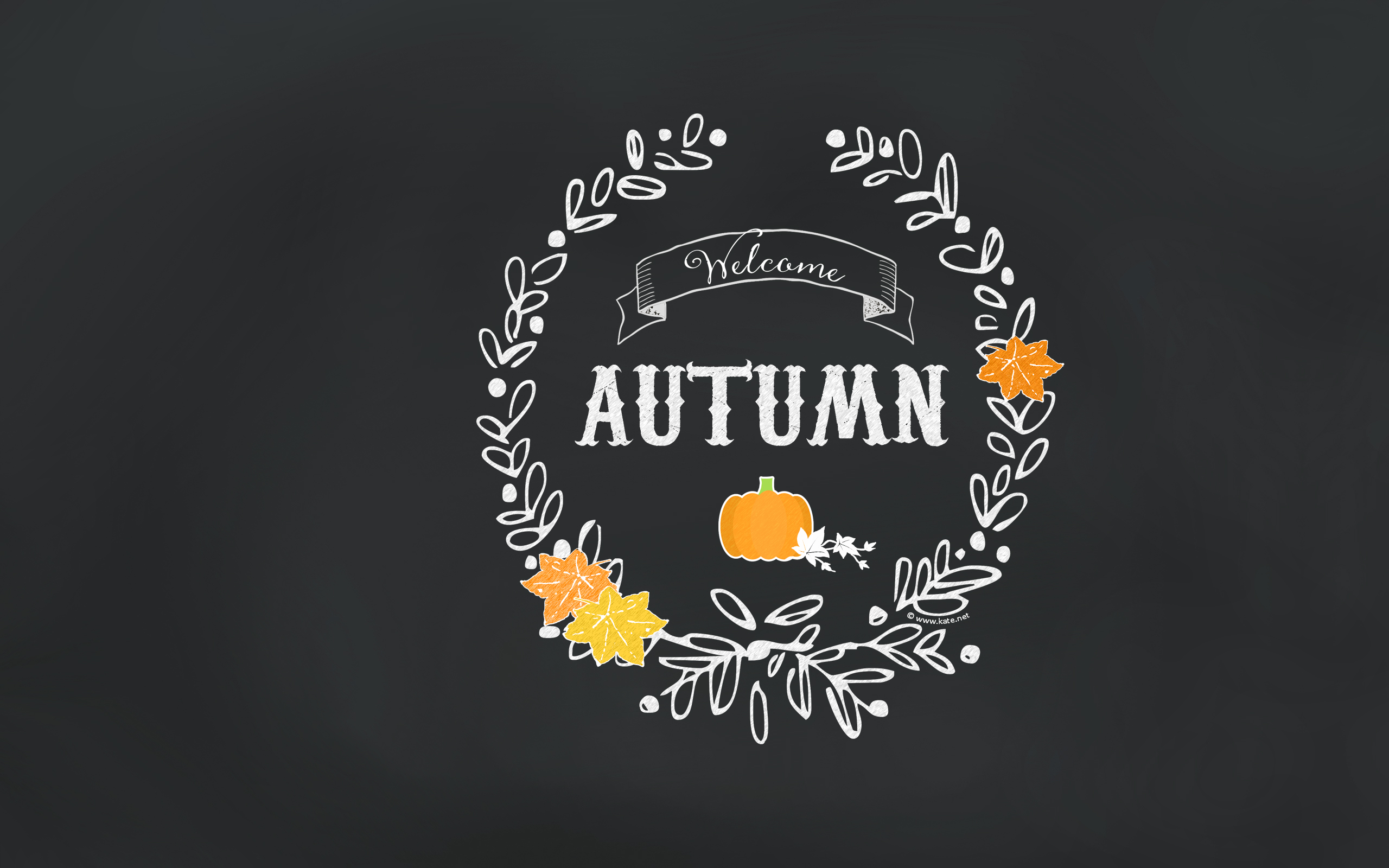 Fall Pumpkin Computer Wallpaper Chalkboard Images Free Download Pixelstalk Net