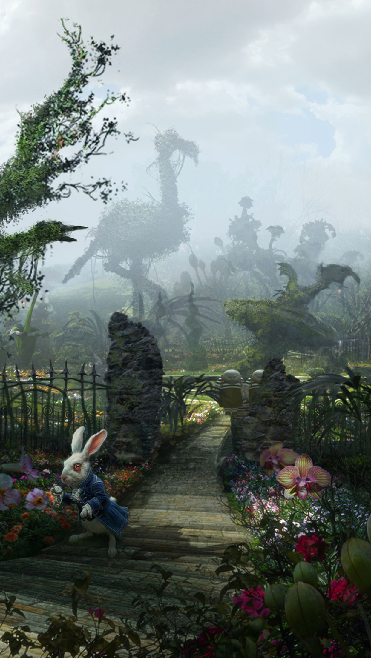 3d Wallpaper For Android Phone Free Download Alice In Wonderland Iphone Wallpaper Pixelstalk Net