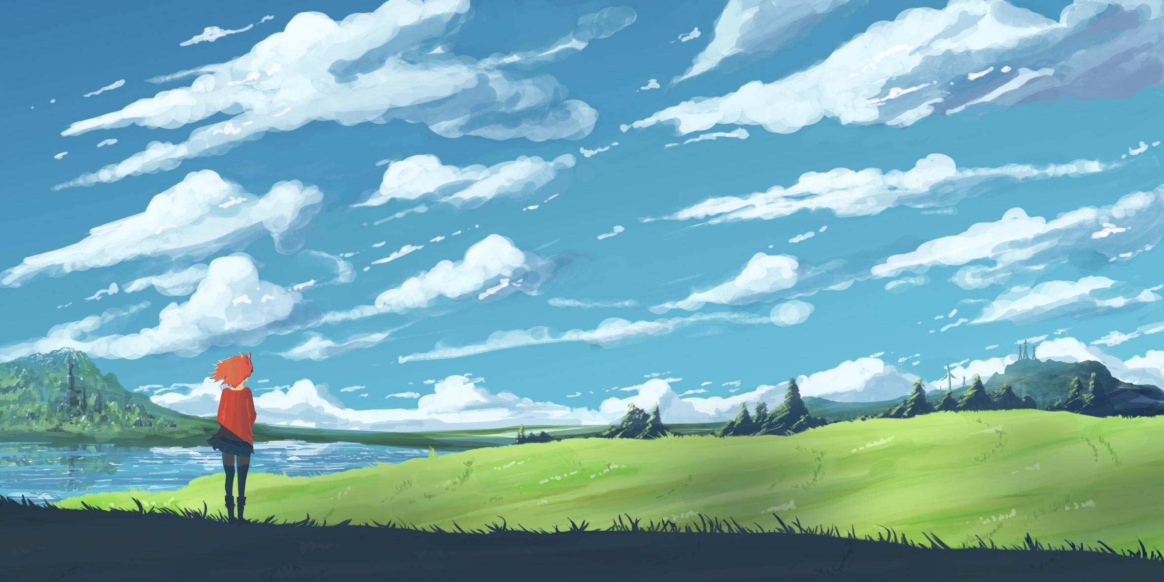 Nice Girl Hd Wallpaper Download Anime Landscape Wallpaper Hd Pixelstalk Net