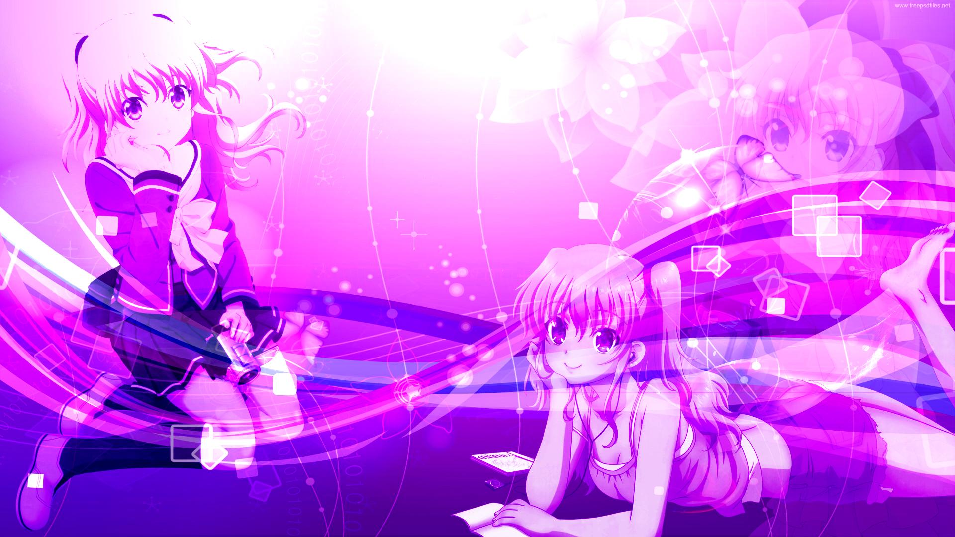 Cute Drawing Desktop Wallpaper Anime Charlotte Backgrounds Pixelstalk Net