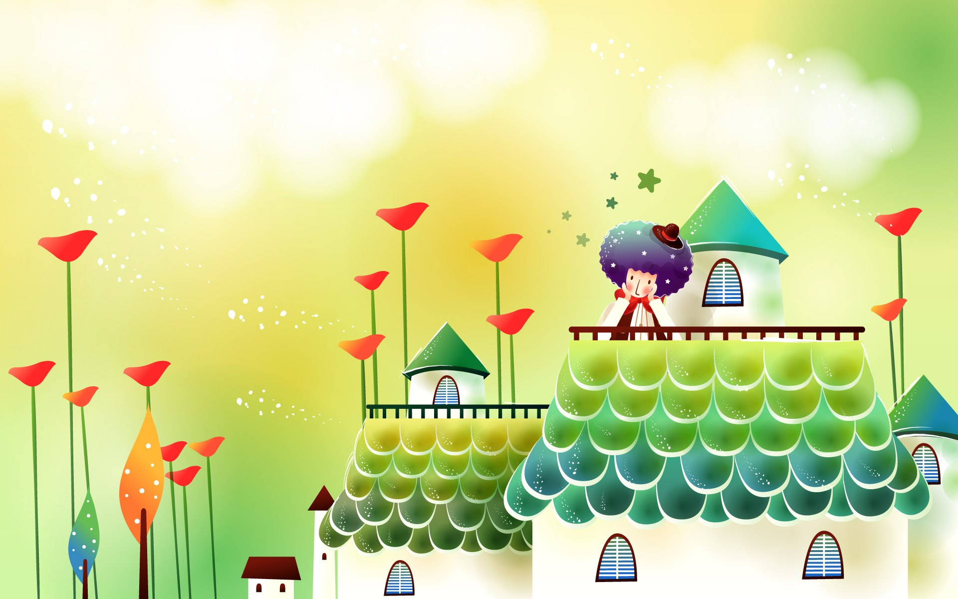 Cute Cartoon Fairy Wallpaper Childrens Backgrounds Free Download Pixelstalk Net