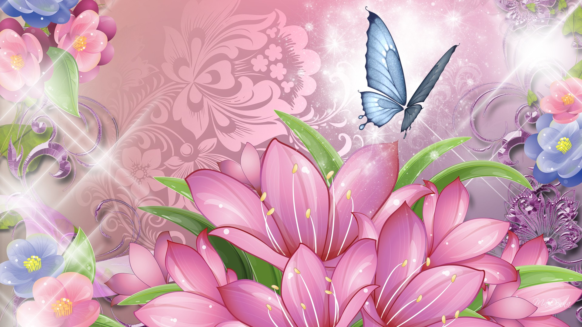 Cute Girly Wallpaper For Bedroom Butterfly Backgrounds For Walls Pixelstalk Net