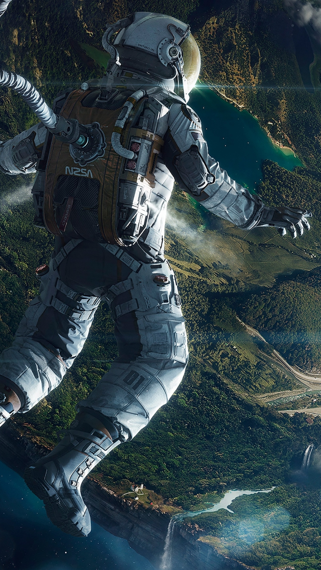 Free Fall Mobile Phone Wallpapers Download Free Astronaut Iphone Wallpaper Pixelstalk Net