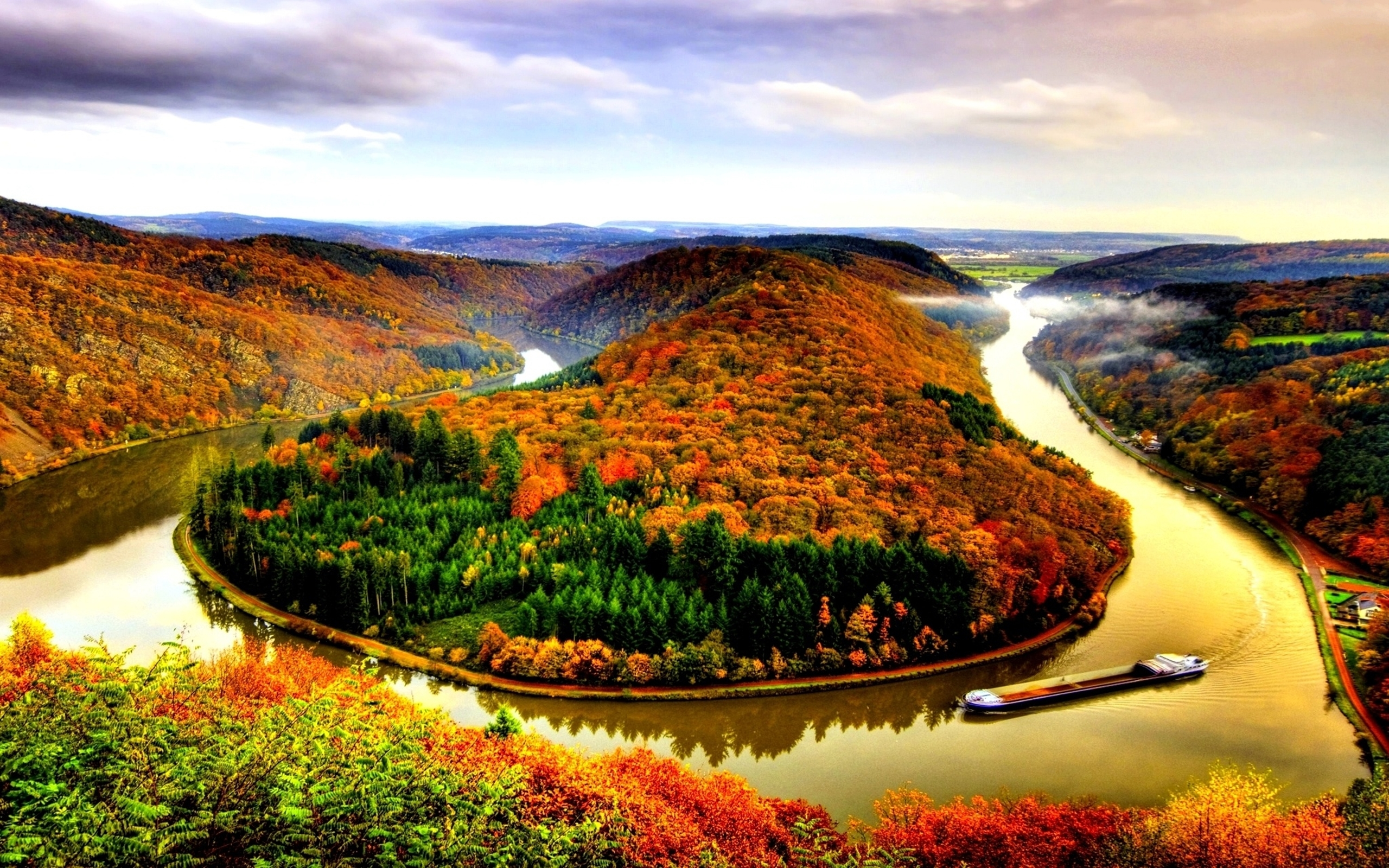 Fall Season Wallpapers Desktop Autumn River Hd Wallpaper Pixelstalk Net