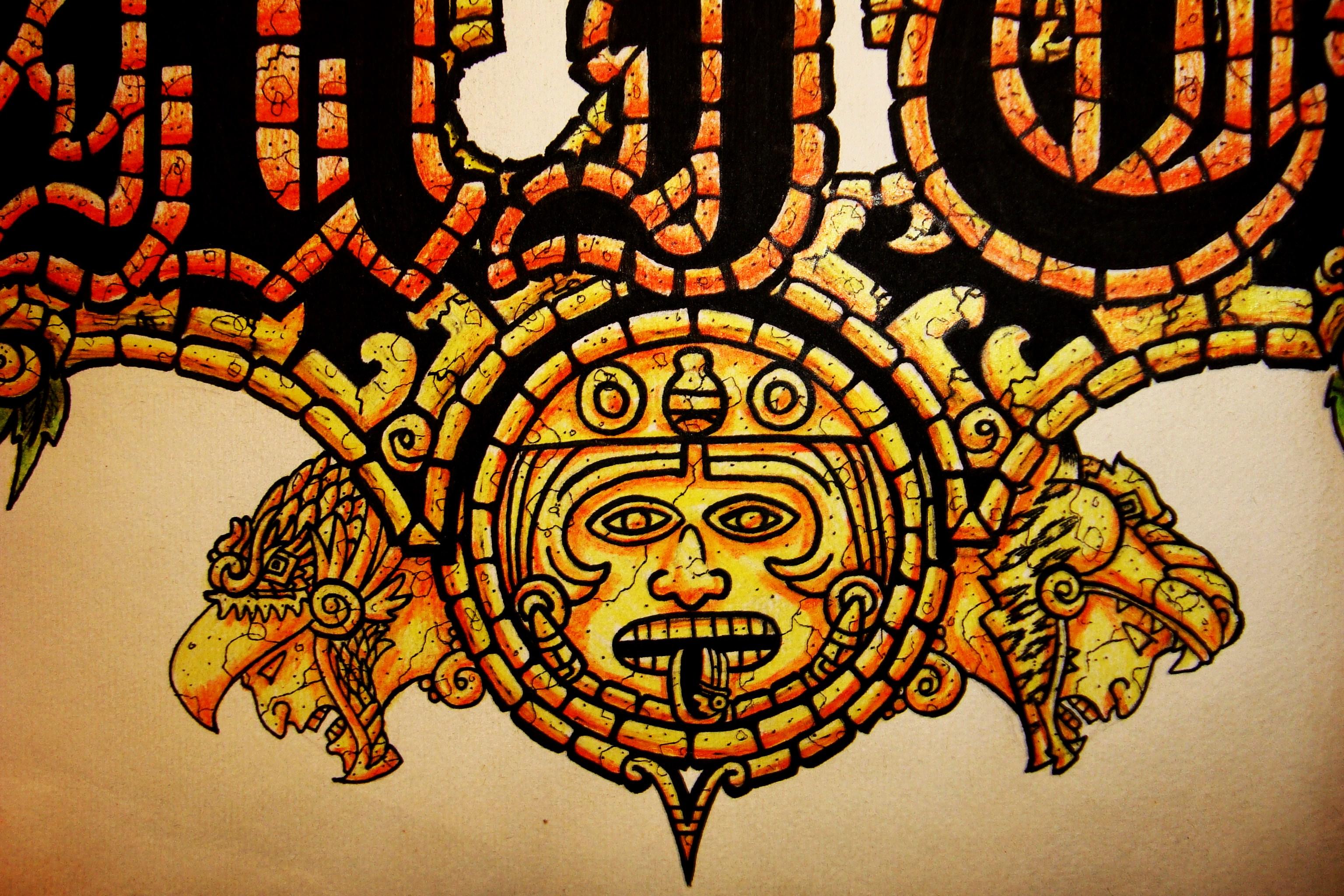 Anime Graffiti Wallpaper Aztec Warrior Background For Desktop Pixelstalk Net