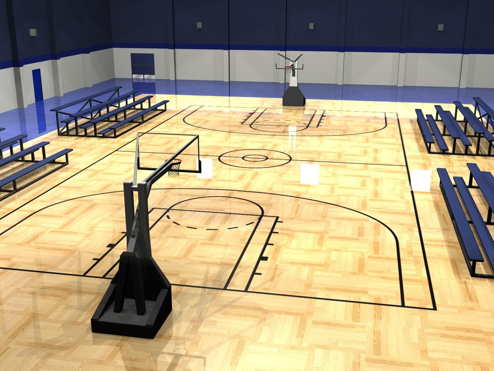 Girl With Basketball Wallpaper Basketball Court Background Hd Pixelstalk Net