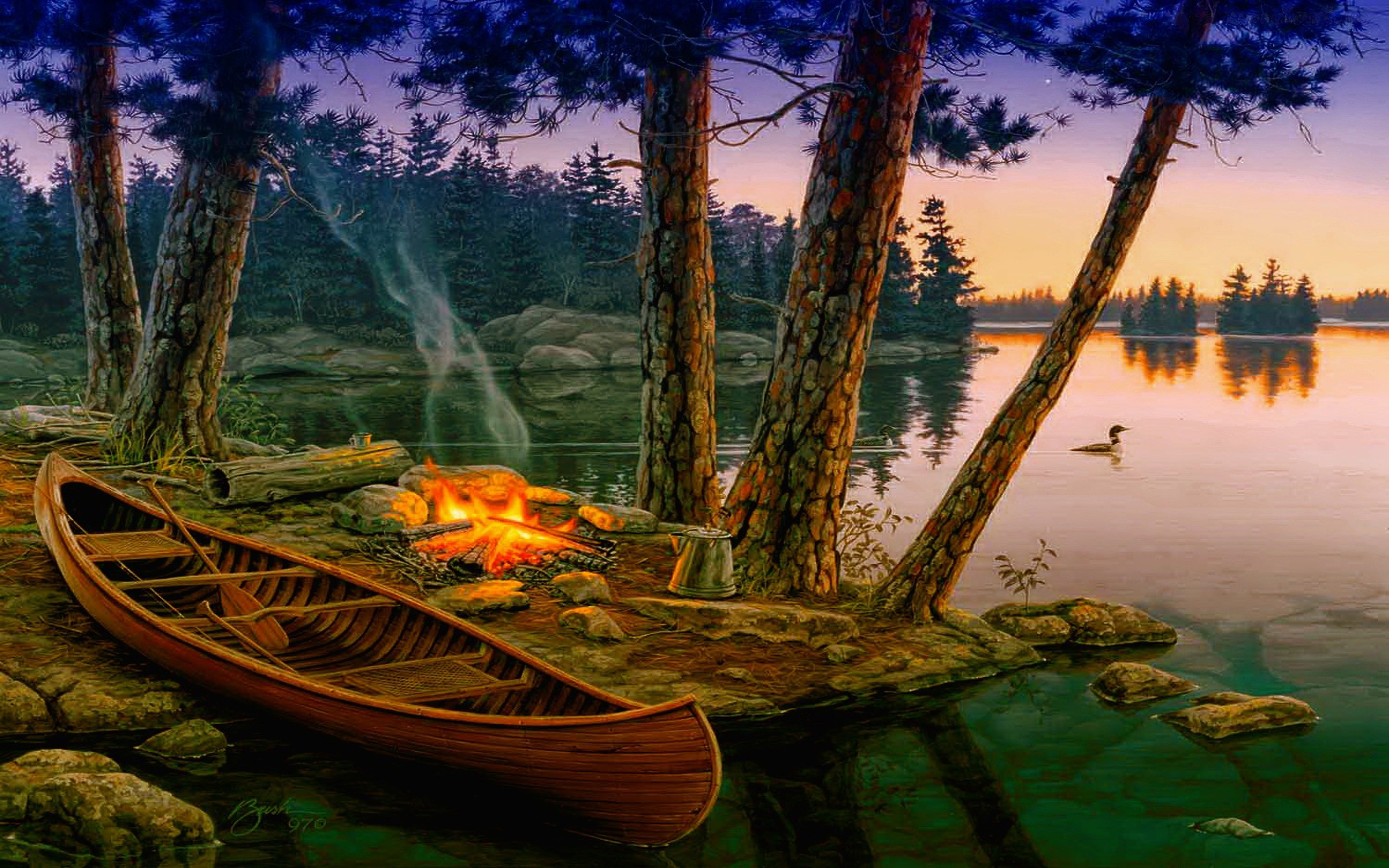 Rustic Fall Desktop Wallpaper Campfire Background Hd Pixelstalk Net
