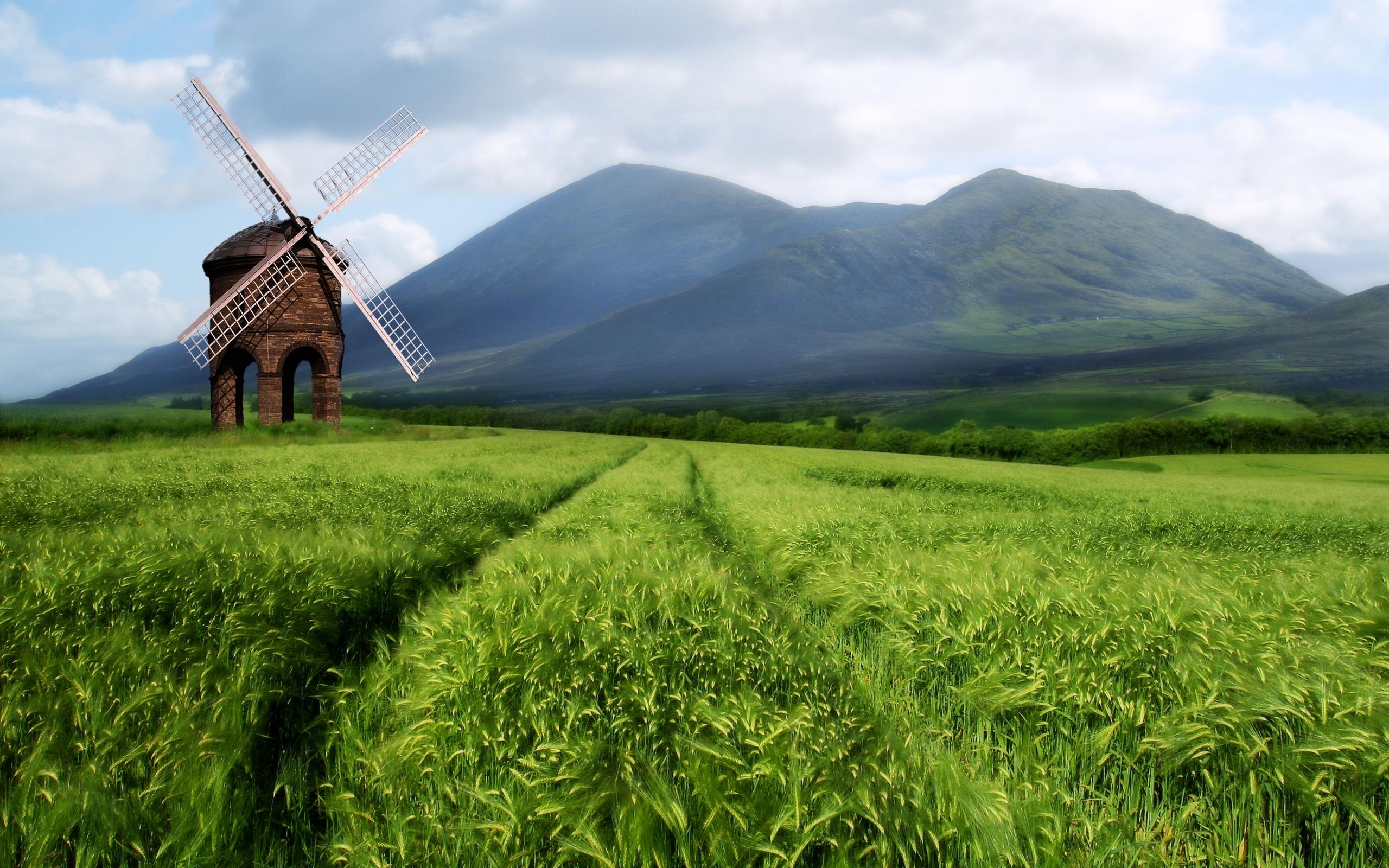 Old Windmill In Fall Grass Wallpaper Field Wallpapers Hd Pixelstalk Net