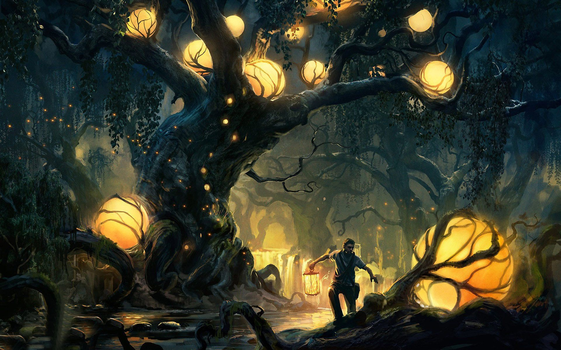 Fall Desktop Wallpaper Full Screen Enchanted Forest Backgrounds Free Download Pixelstalk Net