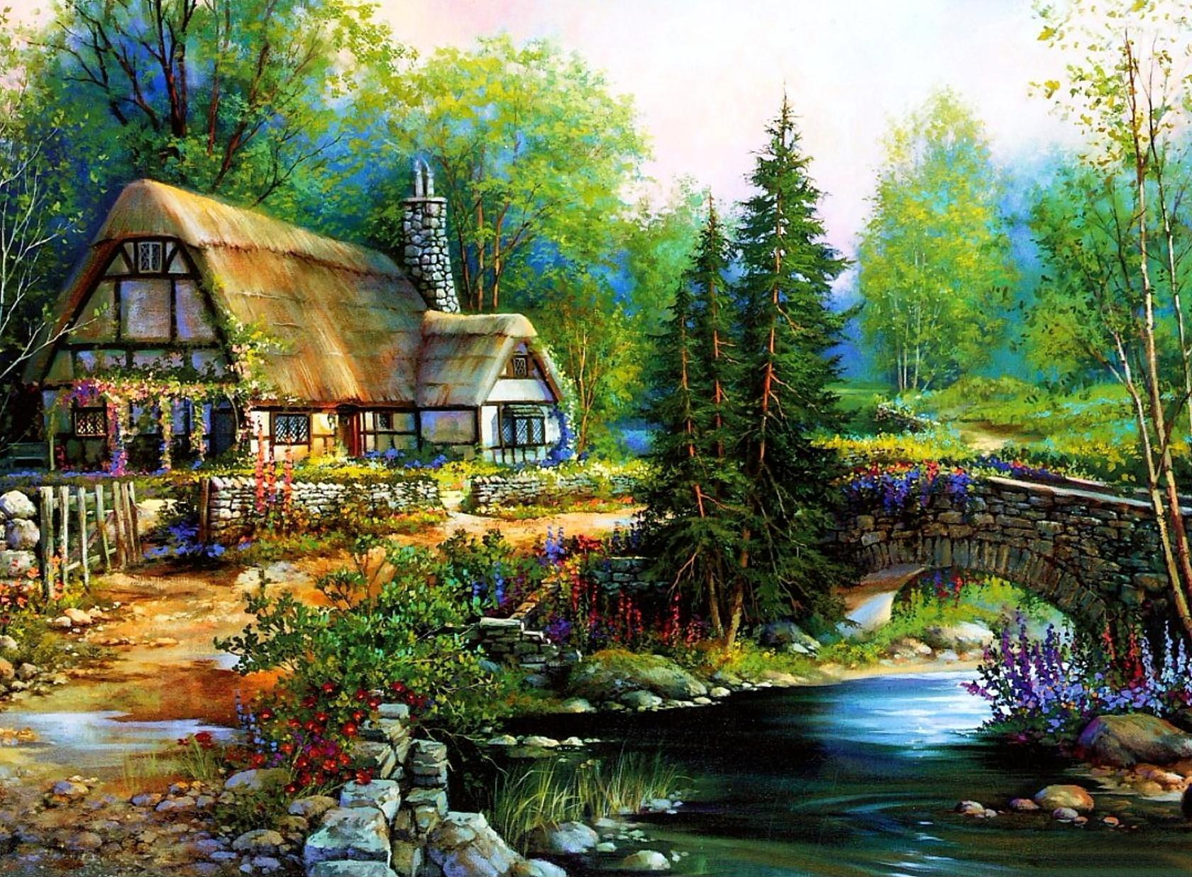 Chinese Girl Painting Wallpaper Free Download Cottage Wallpaper Pixelstalk Net