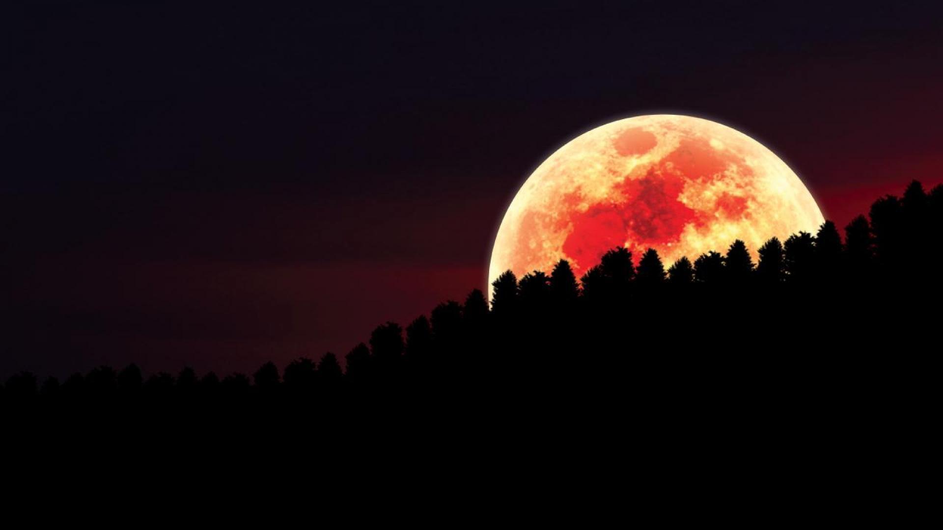 Cool Fall Wallpapers For Desktop Red Moon Wallpaper Hd Pixelstalk Net