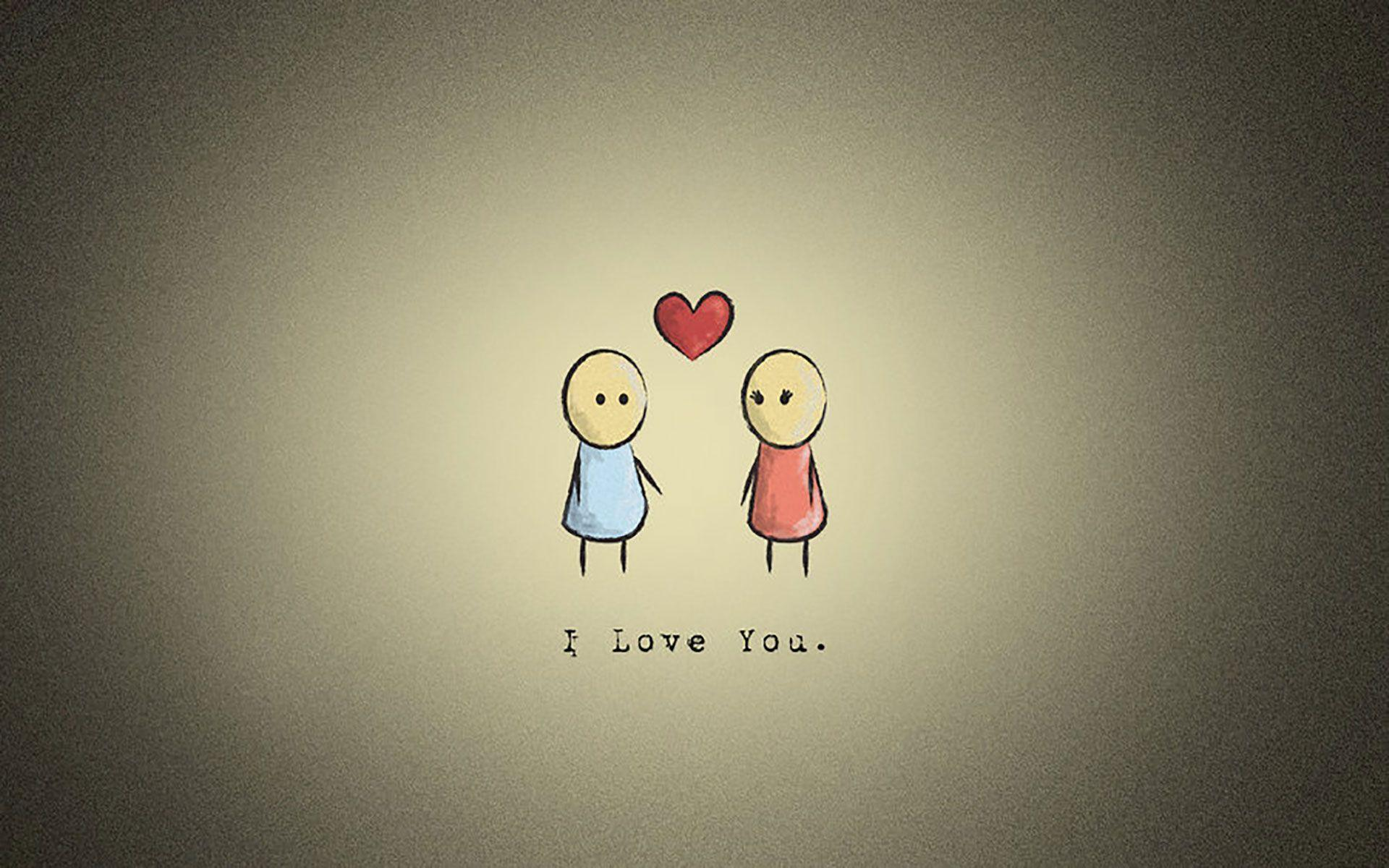 Lovely Girl Cartoon Wallpapers I Love You Background Free Download Pixelstalk Net