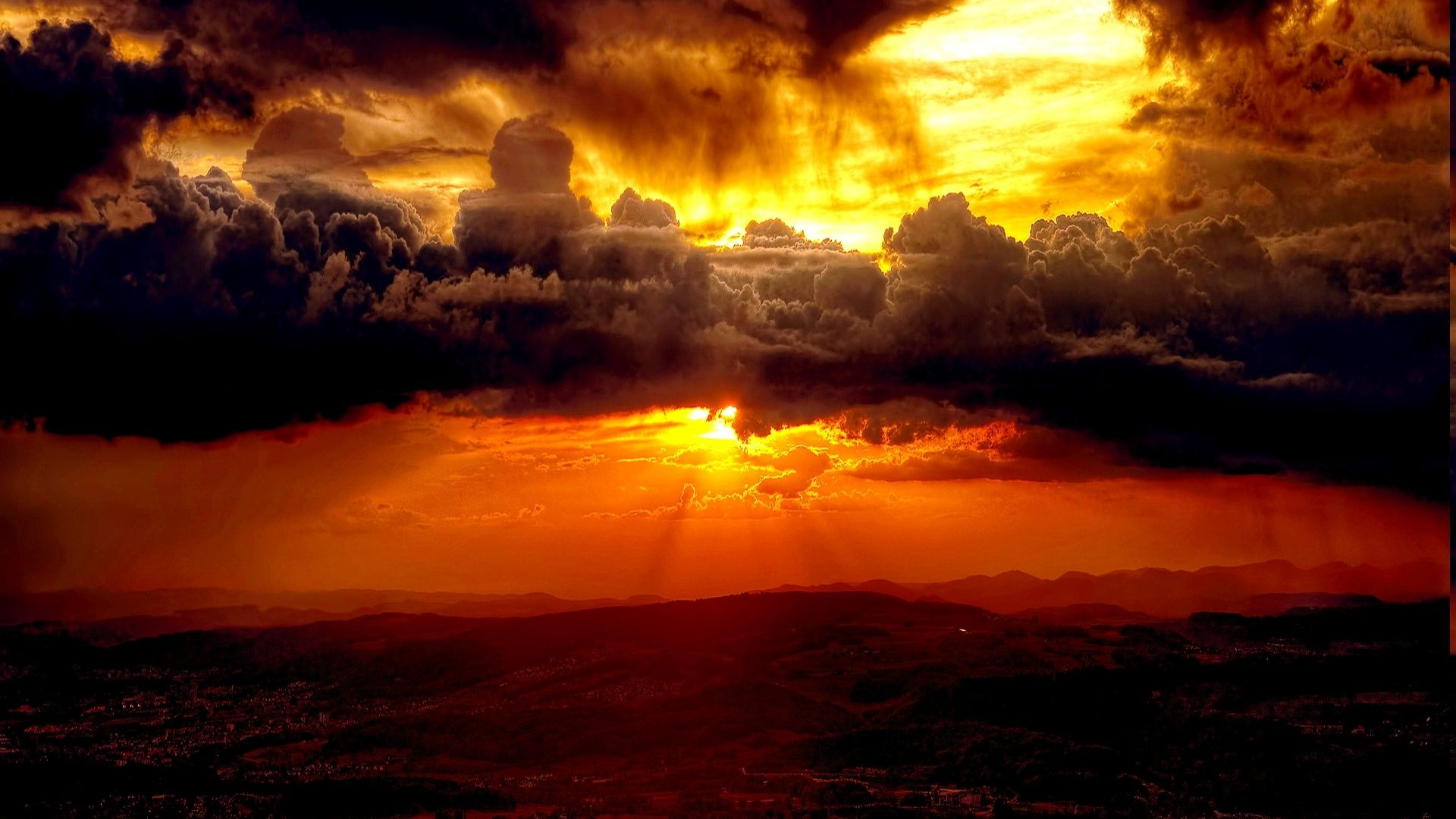 Golden Wallpaper 3d Sun And Clouds Wallpaper Pixelstalk Net