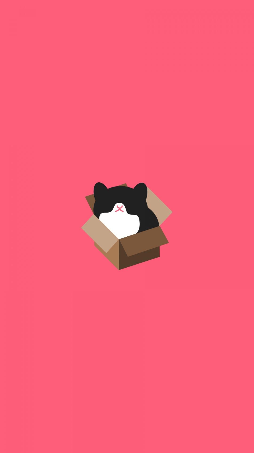 Cute Pink Cat Wallpapers Minimalist Wallpapers For Iphone Pixelstalk Net