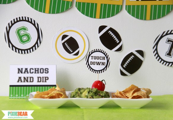 Football Party Ideas by Pixiebear Party Printables