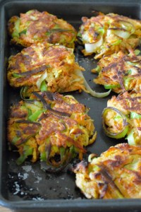 sweet potato leek and lime fritters