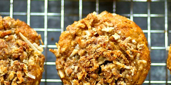 Banana Coconut Bran Muffins